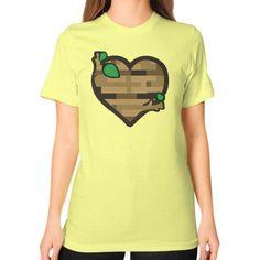 Classic PineHeart Unisex T-Shirt (on woman)