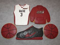 Miami+Heat+Basketball+Cookies+by+ruthiescookies+on+Etsy,+$48.00