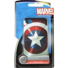 "Coque rigide Marvel ""Bouclier Captain America"" multicolore pour iPhone 4/4S"