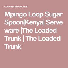 Mpingo Loop Sugar Spoon|Kenya| Serve ware |The Loaded Trunk | The Loaded Trunk