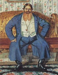 1920 КУПЕЦ by Boris Kustodiev (1878~1927)