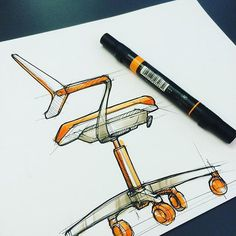Love this sketch of our QiVi chair by @marcus.hamilton.id on Instagram!