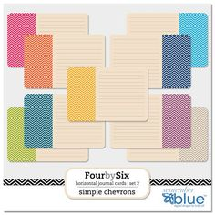 September Blue's free chevrons for Project Life in both vertical and horizontal #free #printables