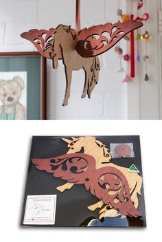 Straight out of a fairy tale, this beautiful laser-cut Unicorn Baby Mobile is made from native timbers such as Tasmanian Oak, Jarrah, Blackwood and Silky Oak. These make a wonderful gift for children and even adults who love Unicorns!