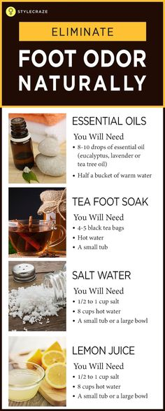 How To Get Rid Of Smelly Feet Everyday life can get embarrassing for people suffering from foot odor. The minute they take off their shoes, a strong stench emanates and quickly spreads throughout the room. This pungent smell can get worse with the soaring Foot Remedies, Cold Home Remedies, Natural Health Remedies, Herbal Remedies, Foot Odor, Feet Care, Herbalism, Essential Oils, Spreads