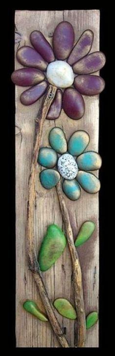 #DIY Artwork Made From Reclaimed Wood, Sticks & Stones ❤︎
