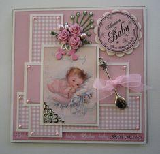 How to Make A Paper Bag Scrapbook – Scrapbooking Fun! Baby Scrapbook Pages, Birthday Scrapbook, Scrapbook Cards, Birthday Cards, 3d Cards, Paper Cards, Baby Mini Album, Baby Girl Cards, Homemade Cards