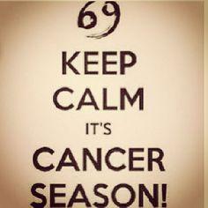 ♋ Keep Calm It's Cancer Season♋ Cancer Zodiac Sign ♋ Cancer Zodiac Facts, Cancer And Pisces, Cancer Horoscope, Cancer Quotes, Cancer Moon, Horoscopes, Calm Quotes, Sign Quotes, Signs Of Ovarian Cancer