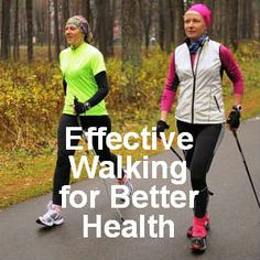 Nordic Pole Walking has been shown to be much more effective than a regular walk for increased health benefits.