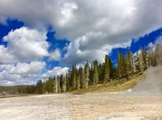 Billowy skies in Yellowstone