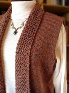 Treyi Vest: $6.50 for the pattern, TOTALLY worth it! It'll look sooooo pretty in green too! :)