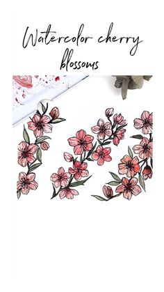 Watercolor Cherry Blossoms Watercolor Cherry Blossoms Rosie s Sketchbook rosiessketchbook Mini Art Tutorials Quick cherry blossom Watercolor tutorial using watercolour brush pens tutorial art nbsp hellip videos brush Watercolor Brush Pen, Watercolor Painting Techniques, Watercolour Tutorials, Watercolor Cards, Painting & Drawing, Watercolor Paintings, Artist Painting, Painting Videos, Watercolor Sketchbook