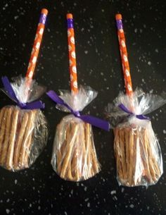 Broom Sticks- Healthy Halloween Treat