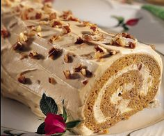 Spiced Pumpkin Praline Roll recipe