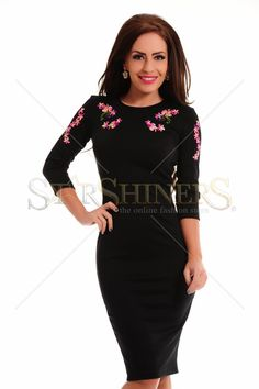 StarShinerS Brodata Oasis Black Dress