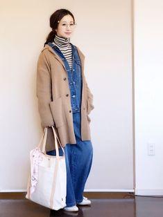 久しぶりのデニデニを ルーズに着ました。 作業服みたいになりました(^ ^)汗 インナーリブニット/