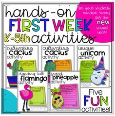 Needing some NEW and FUN activities to create with your students on the FIRST week of school? Then you have to check out this brand NEW file with 5 activities created just for you and your students this school year! These activities will help get your