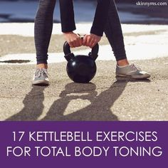 17 Kettlebell Exercises for Total Body Toning, these are so worth trying. Love the kettlebell--it makes for a great, efficient workout. Toning Workouts, Fun Workouts, Ab Exercises, Fitness Diet, Health Fitness, Workout Fitness, Workout Body, Group Fitness, Health Diet