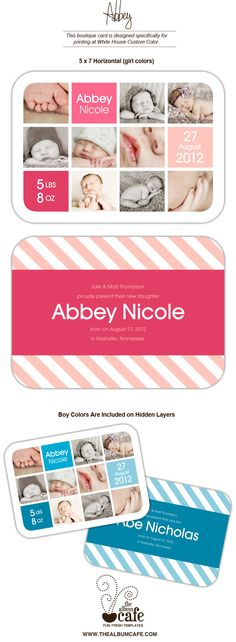 Abbey Birth Announcement