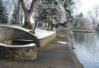 Pioneer Park Walla Walla Washington..pond in winter