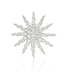 Tiffany platinum 18kt diamond brooches