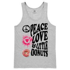 Peace, Love And Little Donuts Men's Tank Top