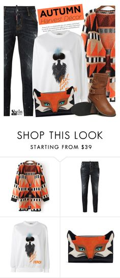 """""""Autumn Decor"""" by mada-malureanu ❤ liked on Polyvore featuring Dsquared2, Fendi, Sheinside, fendi, dsquared2, autumnstyle and shein"""