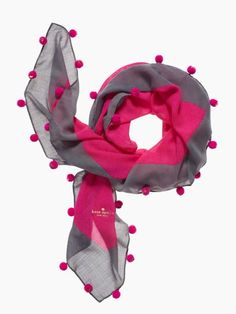 b9d59f0aca8 Shop for Snapdragon Pom Pom Scarf by Kate Spade at ShopStyle.