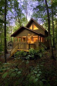 bluepueblo: Forest House, The Gorge, West Virgina photo via jim Little Cabin, Little Houses, Small Houses, Log Cabin Homes, Log Cabins, Mountain Cabins, Tiny Cabins, Cabin In The Woods, Forest House