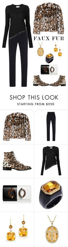 """""""Faux Fur Coats"""" by karen-galves ❤ liked on Polyvore featuring Moschino, Jonathan Simkhai, Givenchy, 10 Crosby Derek Lam, Anne Sisteron and fauxfurcoats"""
