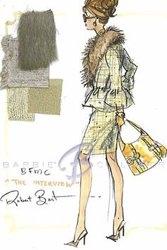 Silkstone The Interview, Robert Best Barbie Sketch