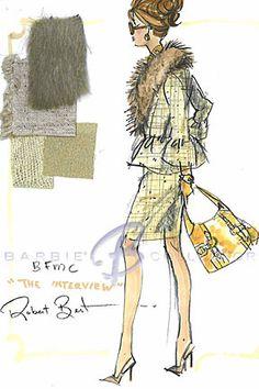 Silkstone The Interview, Robert Best Barbie Sketch