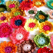 DIY crochet flowers