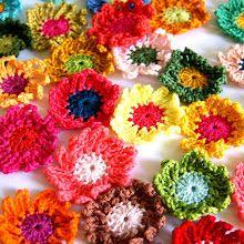 DIY crochet flowers