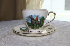 Royal Canadian Mounted Police Bone China Tea Cup Saucer Set Vintage 1960s Duchess RCMP Gold Trim Mountie Collectible Maple Leaf Crest Shield by TresorsEnchantes on Etsy