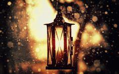 Old Street Lamp In Winter
