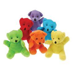 Plush Toy Mini Bears (One Dozen)