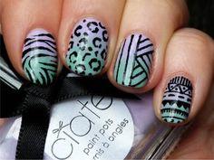 Texture+gradient nails