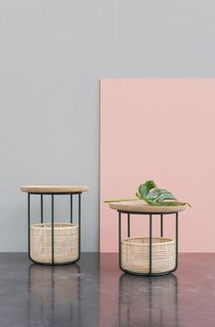 BASKET Tables | Design Alain Gilles for VINCENT SHEPPARD - Side table coffee tables sofa armchair wicker rattan woven furniture design wood steel outdoor indour