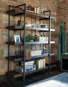 Give your home office an industrial feel with the help of Starmore Home Office Collection by Signature Design. Combining elements of industrial design with contemporary decor and accessories, this… Home Office Decor, Farm House Living Room, Industrial Decor, Industrial House, Cool Rooms, Home Furniture, Contemporary Decor, Contemporary House, Living Room Designs