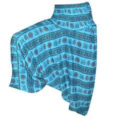 Blue wide leg trouser / tartan trouser/ Harem Pants/ Women