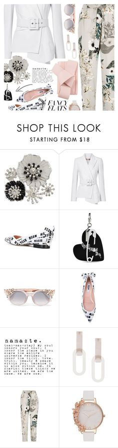 """""""Fancy Flats"""" by annbaker ❤ liked on Polyvore featuring Dana Buchman, Michael Kors, MSGM, Edie Parker, Jimmy Choo, Rachel Comey, River Island, Olivia Burton and Ted Baker"""