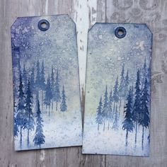 Words and Pictures: Wintry Woods Crafts To Do, Arts And Crafts, Diy Crafts, Tim Holtz Stamps, Stampers Anonymous, Ranger Ink, Christmas Tree Cards, Winter Cards, Altered Art