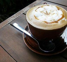 morning latte. there's just nothing better.