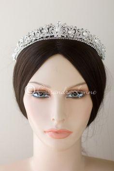 Jeweled Knots Wedding Tiara with Crystal Beads
