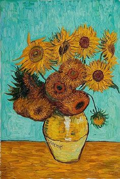 Sunflowers, 1888: Vincent van Gogh.