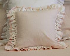 Double Ruffle Pillow at ld linens & decor