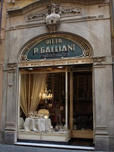 Ditta P. Galliani (tableware store) in Lucca, Tuscany, Italy