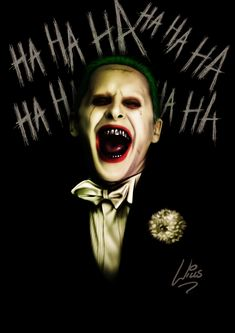 Jared Leto Joker by Richard Williams Joker Pics, Joker Art, Joker Batman, Gotham Batman, Batman Art, Batman Robin, Gotham City, Joker 2016, Dc Comics Peliculas