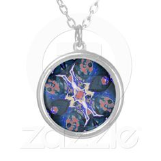 Decorative Retro Necklace from Zazzle.com    decorative , blue , nature , retro , red , symmetric , female , flower , digital , elegant , decoration , women , teens , flowers , natural